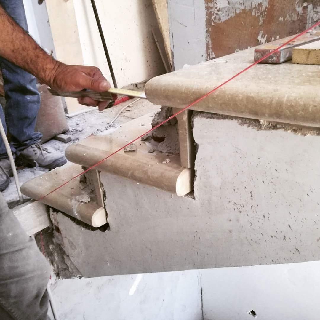 Demolizione Scala In Cemento Armato scala, posa della pietra bianca di modica, architettura e